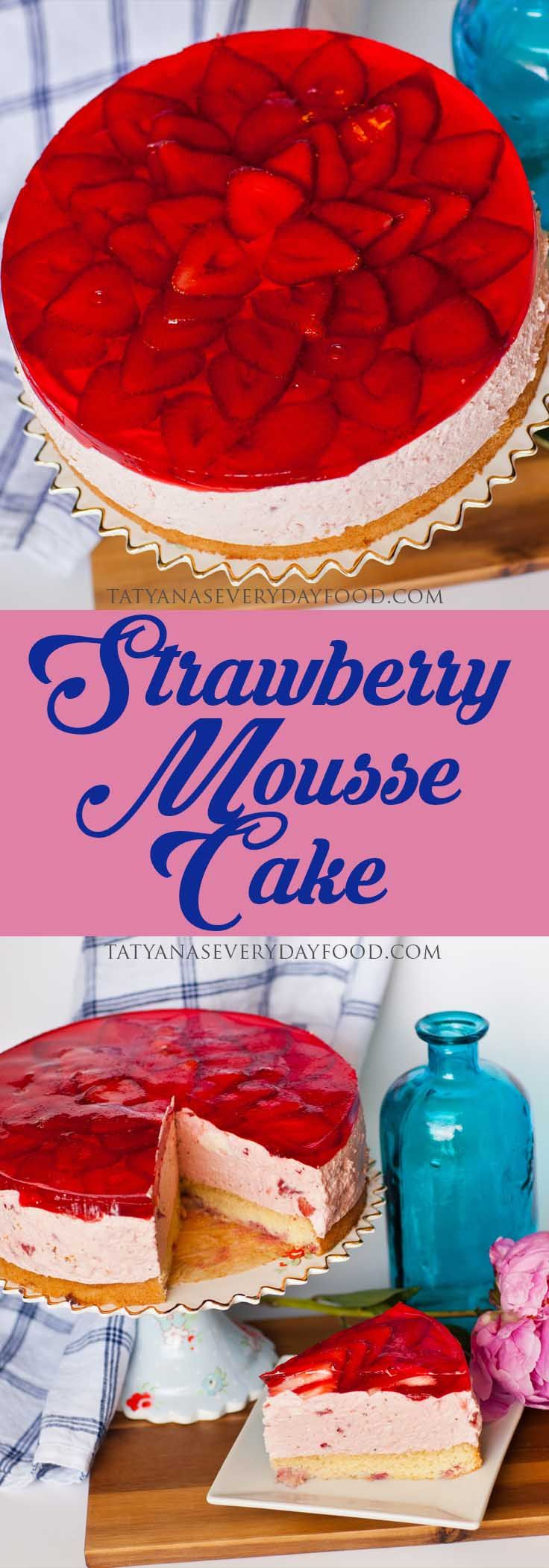 A show stopping 'Strawberry Mousse Cake' for the strawberry lover! This cake is loaded with strawberries, starting from the sponge cake base, a double dose in the strawberry mousse and more berries to finish off the top. If you're looking for a light and airy cake to enjoy, give this one a try! Watch my […]