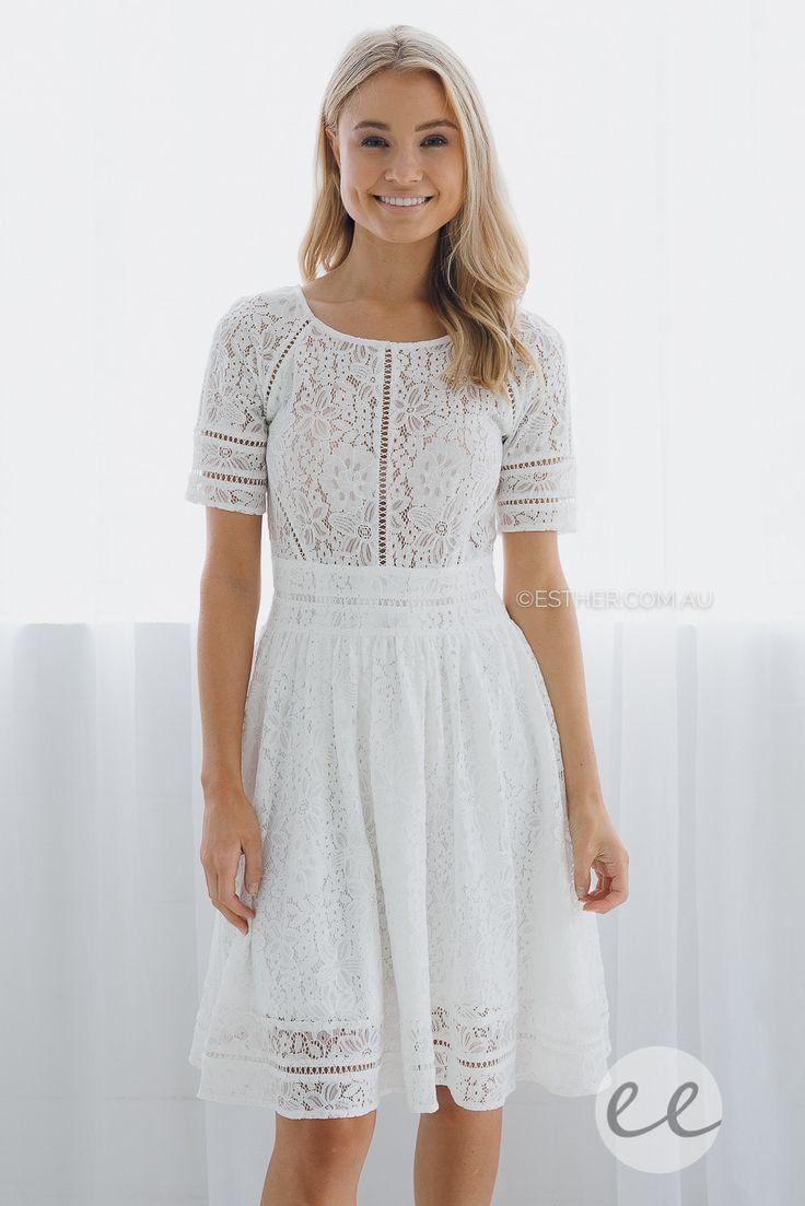ivy lace dress - ivory