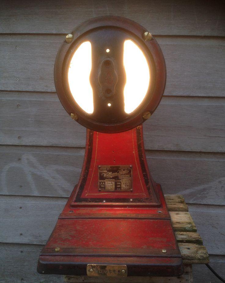 Lamp design Eddy Vogel .  coffee grinder lamp with touch dimmer and three light intensity #steampunk #industrial #castiron #vtwonen #handmade #industriallichting #vintageindustrial #industrialfurniture #industriallamp #retro #reclaimed #modern #interiordesign #industrialinterior #moderndesign #interiors  #midcentury #midmod #restaurantinteriorsp #coffeegrinder #coffieshop.