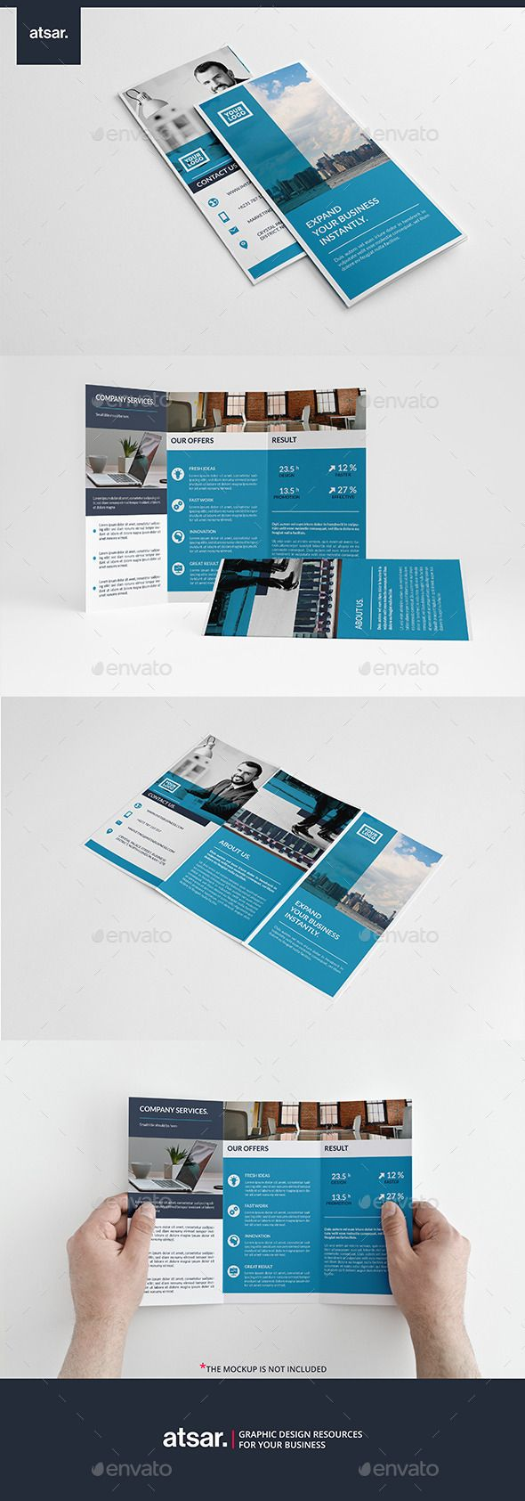 Blue Corporate Brochure Template InDesign INDD #design Download: http://graphicriver.net/item/blue-corporate-brochure/13217595?ref=ksioks