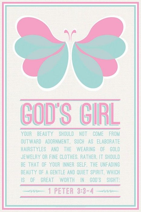 Christian posters for youth - God's Girl. Order this poster at http://www.lifeposters.org