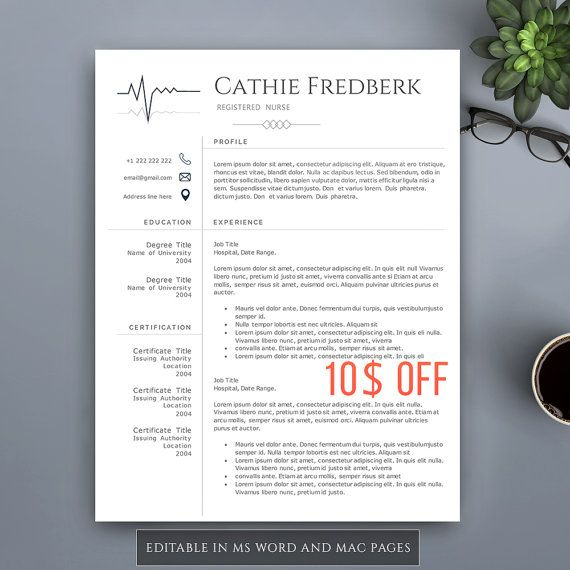 The 25+ best Nursing resume template ideas on Pinterest Rn - mac pages resume templates