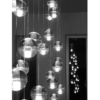Bulb-Vintage-Industrial-Home-ceiling-lamp-Chandelier-Pendant-Lights-Bubble-Globe