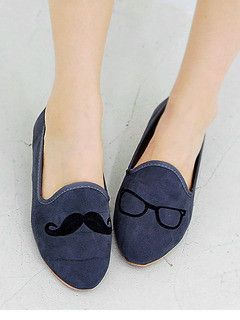 Moustache and Eyeglasses Loafers. Too cute!