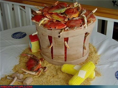 Sheer Awesomeness: Bushel of Crabs Wedding Cake