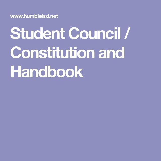 Student Council / Constitution and Handbook                                                                                                                                                                                 More