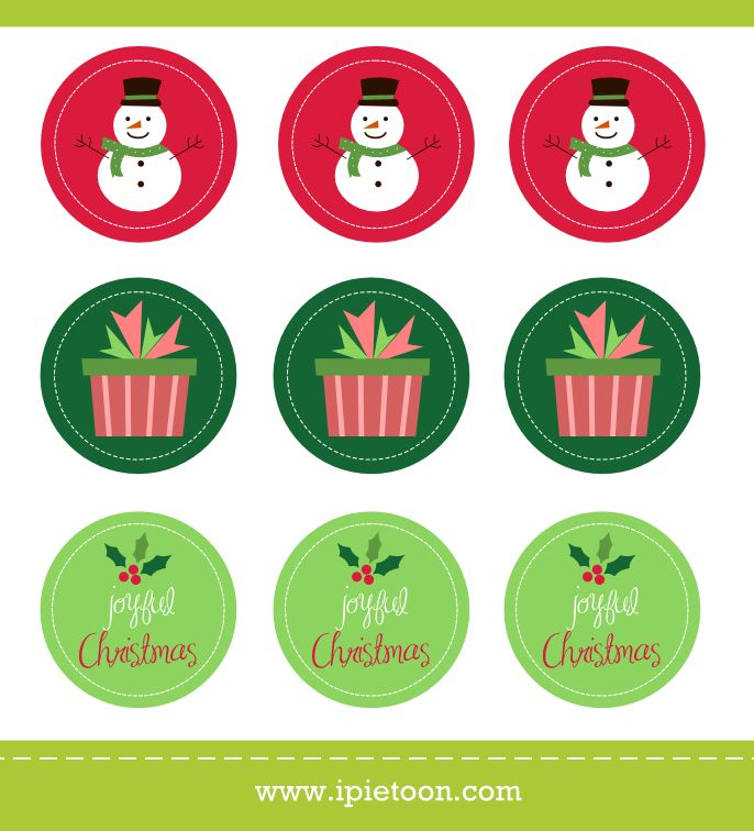 It's just a picture of Geeky Printable Christmas Stickers