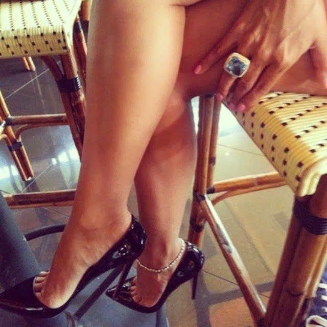 Leg high heel porn