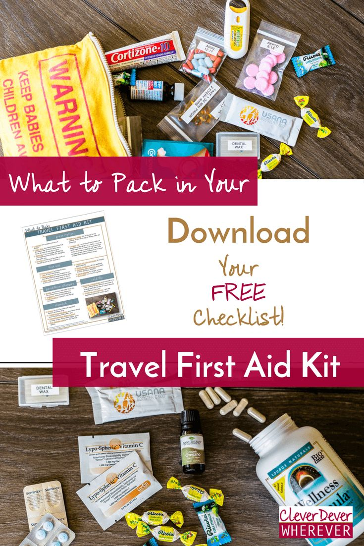 Read my travel hacks for packing your own Travel First Aid Kit. Download the Free Checklist!
