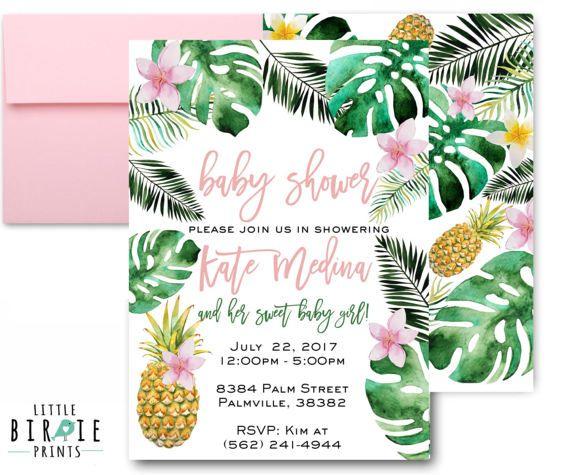 best 25+ luau baby showers ideas on pinterest | hawaiian baby, Baby shower invitations