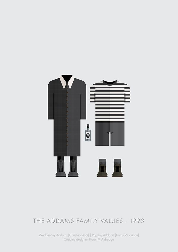 Addams Family Values (1993) ~ Minimal Movie Poster by Frederico Birchal ~ Costume Series #amusementphile