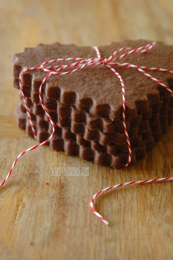 Simply Suzanne's AT HOME: chocolate shortbread cookies