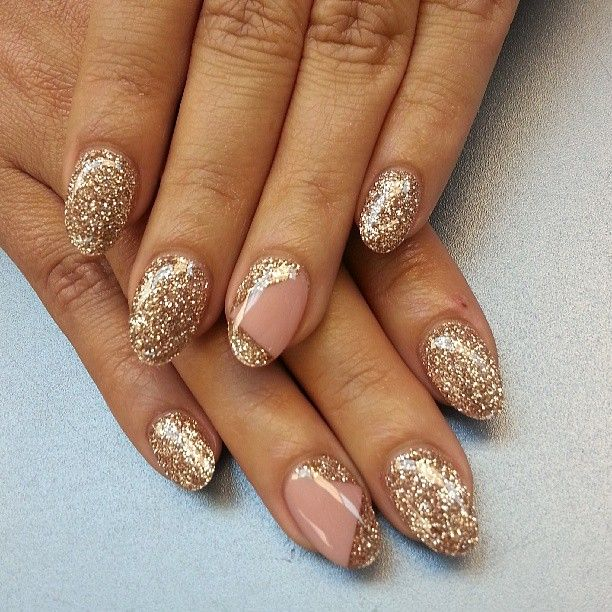 25+ Best Ideas About Gold Glitter Nails On Pinterest