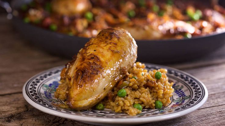 Arroz Con Pollo from Aaron Sanchez To make this dish alcohol free use chicken stock for all liquids plus 2 tbsp Champaign vinegar
