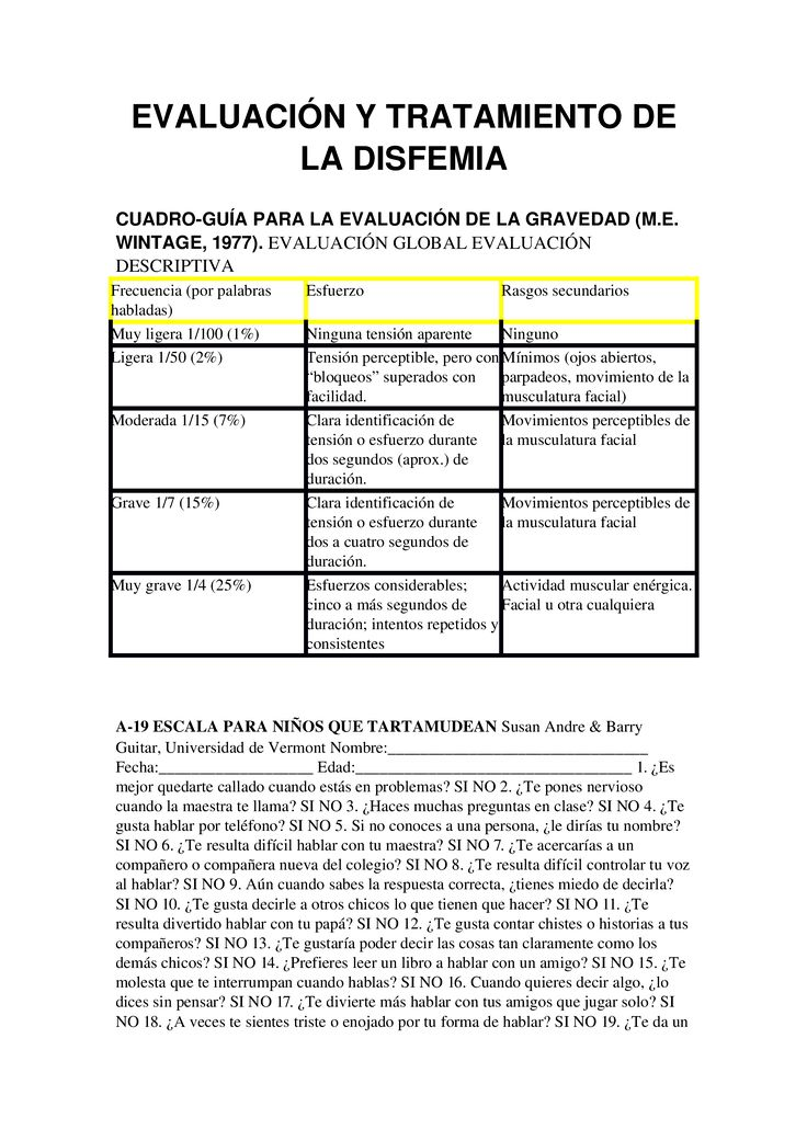 Download EVALUACIÓN Y TRATAMIENTO DE LA DISFEMIA - Documents