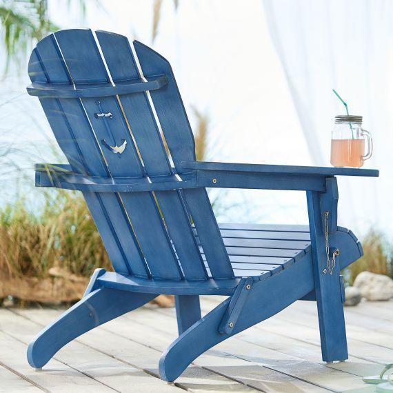Outdoor Stuhl Anker Adirondack Chair Klappbar Maritimer Look Holz Gartenstuhle Stuhle Gartenstuhl Edelstahl