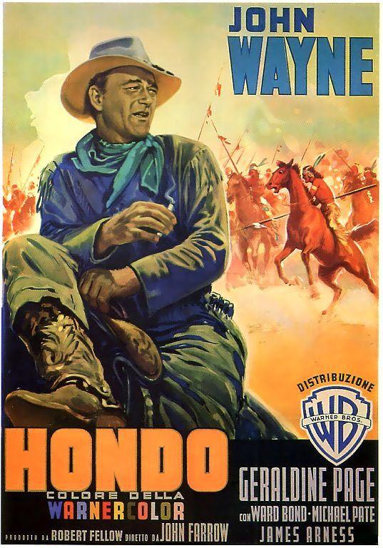 John Wayne Movie Film Poster Print - HONDO, Italian. $9.95, via Etsy.