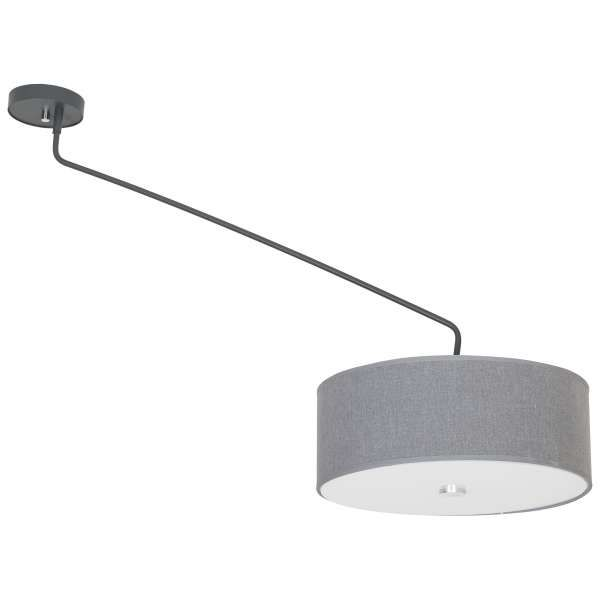 Plafon LAMPA sufitowa HAWK 6540 Nowodvorski abażurowa OPRAWA ruchoma na wysięgniku szary