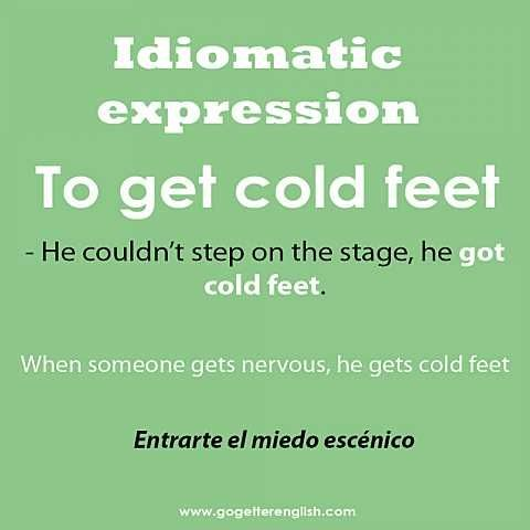 English #idiomatic #expression [to get cold feet]