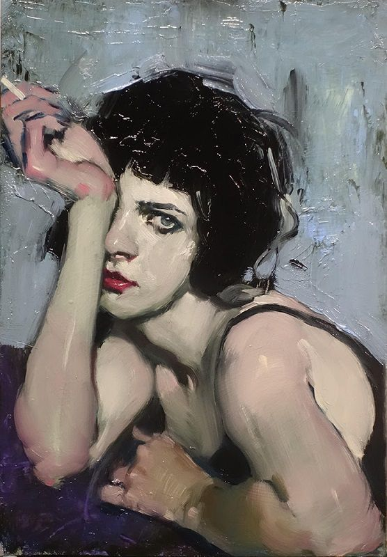 Malcolm Leipke's work focuses on figurative paintings and drawings of intimate moments of sensual pleasure and deep introspection.