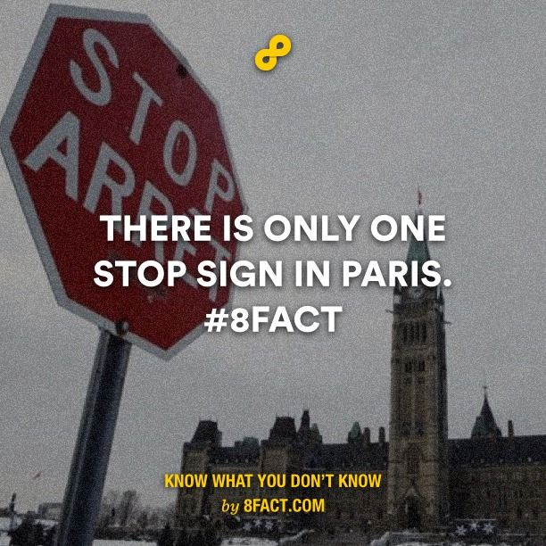 There is only one STOP sign in Paris. | funny | 8fact ...