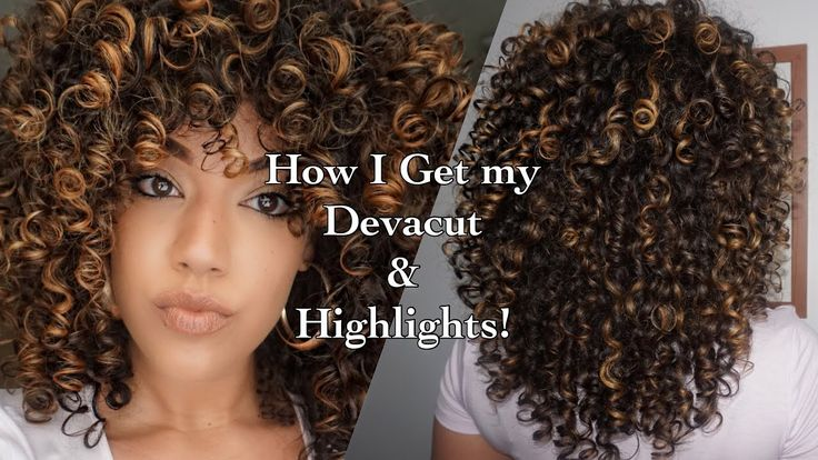 How I get my Devacut & Pintura/ Balayage Highlights on Curly Hair using Olaplex [Video] - https://blackhairinformation.com/video-gallery/get-devacut-pintura-balayage-highlights-curly-hair-using-olaplex-video/