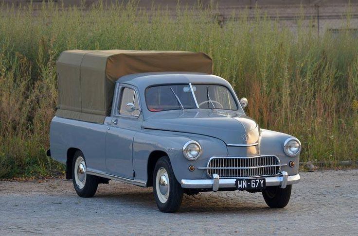 Warszawa pick up - really cool looking little truck. Perfect for my camping expeditions.