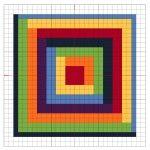 Cross Stitch Rainbow Block 8 - The Crafty Mummy