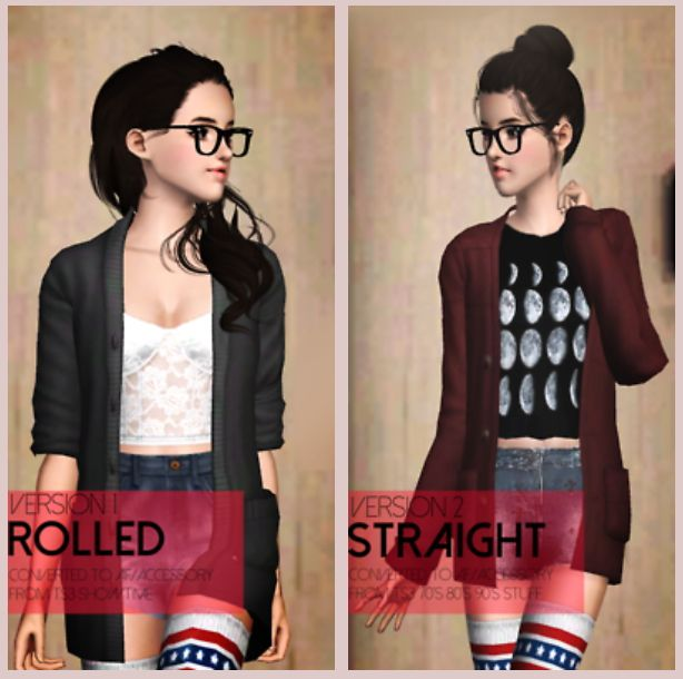 Weather Sweaters converted accessories by Dumbobs - Sims 3 Downloads CC Caboodle