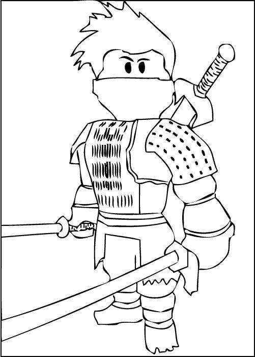 A free printable Roblox Ninja coloring page