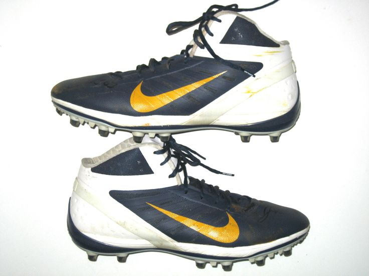 John Phillips San Diego Chargers Game Worn & Signed White, Blue & Gold Nike Cleats
