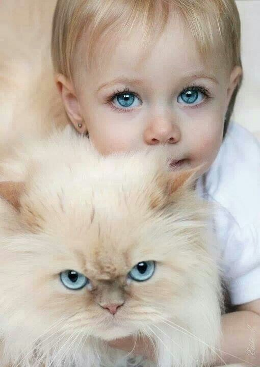 The next time I'm looking for a baby I will make sure that he/she has the same eyes as one of my cats