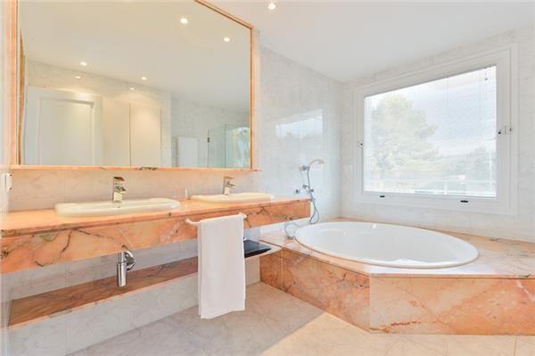 Lovely bathroom with jacuzzi in Sant Antoni de Portmany, Ibiza, Spain