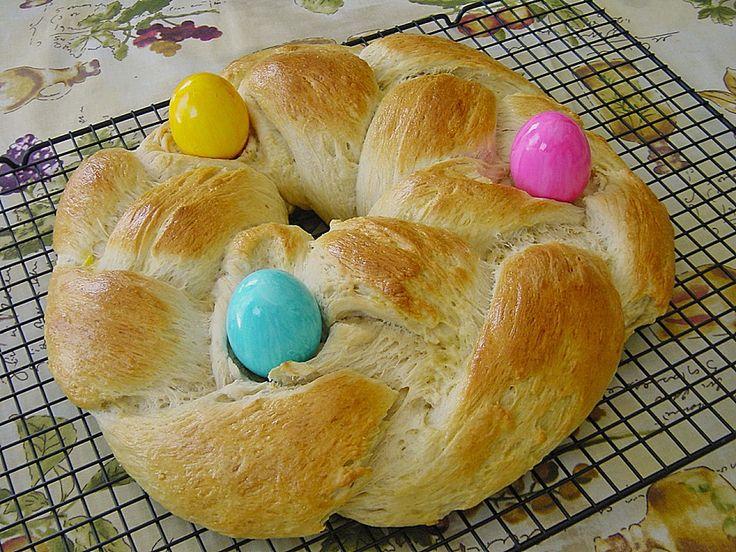 Easter Sweet Bread Wreath • German Recipes