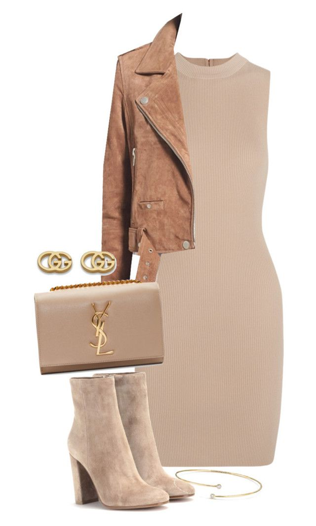 """Sem título #1414"" by manoella-f on Polyvore featuring moda, Tart, BLANKNYC, Yves Saint Laurent, Gianvito Rossi, Gucci e Elsa Peretti"