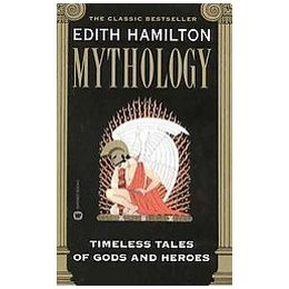Mythology, timeless tales retold by Edith Hamilton. If you want a great introduction to Greek, Roman, and Norse Mythology, this book is perfect.