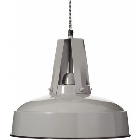 Lampa metalowa Aluro Flux w kolorze szarym. Klasyczna lampa wtórej klosz jest okrągły. Lampa występuje w różnych kolorach!