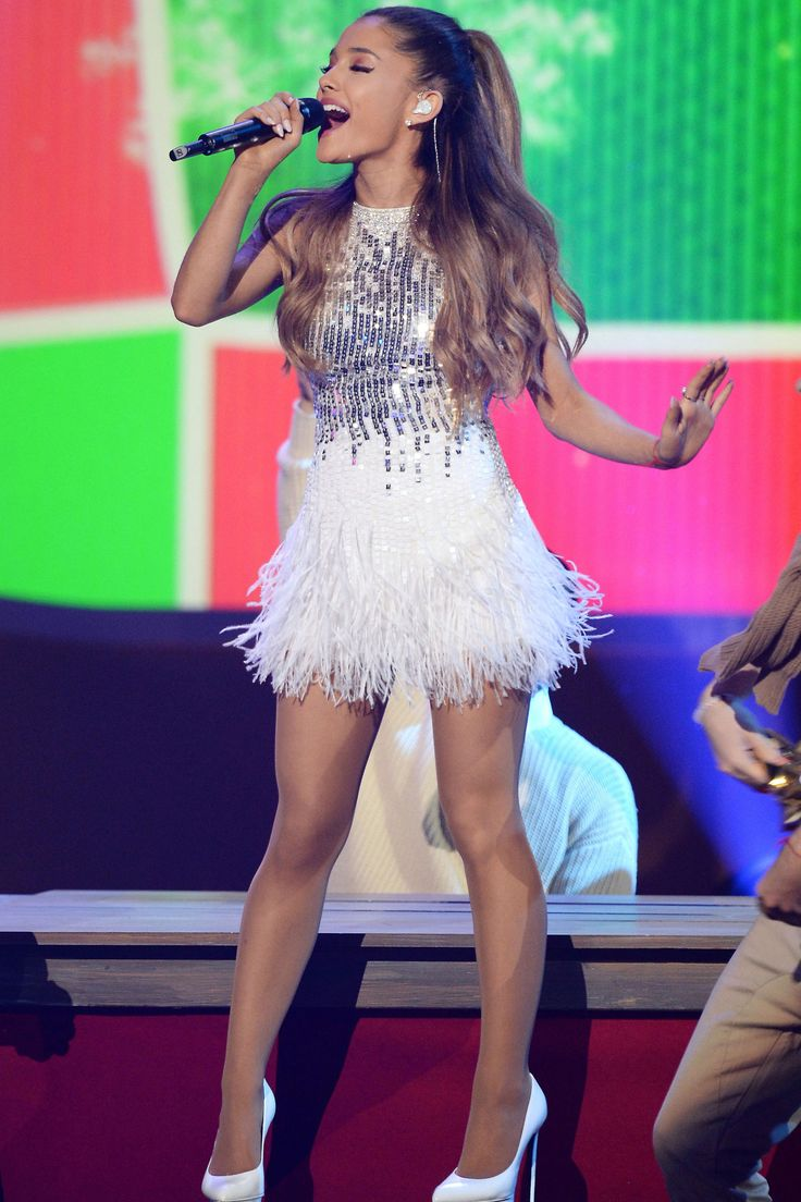Ariana Grande performs at the taping of A Very Grammy Christmas at the Shrine Auditorium in Los Angeles on Nov. 18, 2014.   - Cosmopolitan.com
