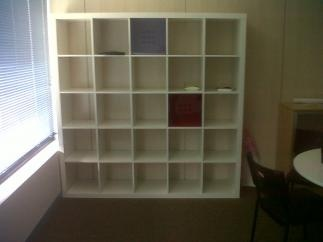 se vende estantera color blanco ikea serie expedit x cm madrid uac