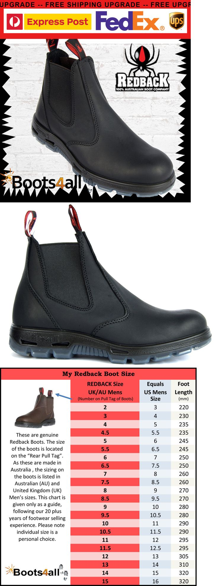 Boots 11498: Redback Work Station Boots Black Non Steel Toe Easy Escape Ubbk Uk Size -> BUY IT NOW ONLY: $99.95 on eBay!