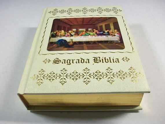 Holy Bible in Spanish, Vintage Biblia Sagrada, Huge Bible Containing Old and New Testament, Biblia en Espanol, Felix Torres Amat Version