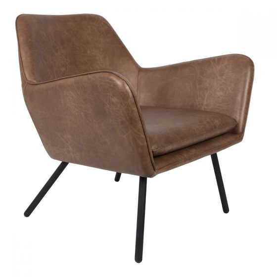 Fauteuil Draw bruin leder 78x80x76 - 3100040 Wants and Needs - www.wantsandneeds.nl