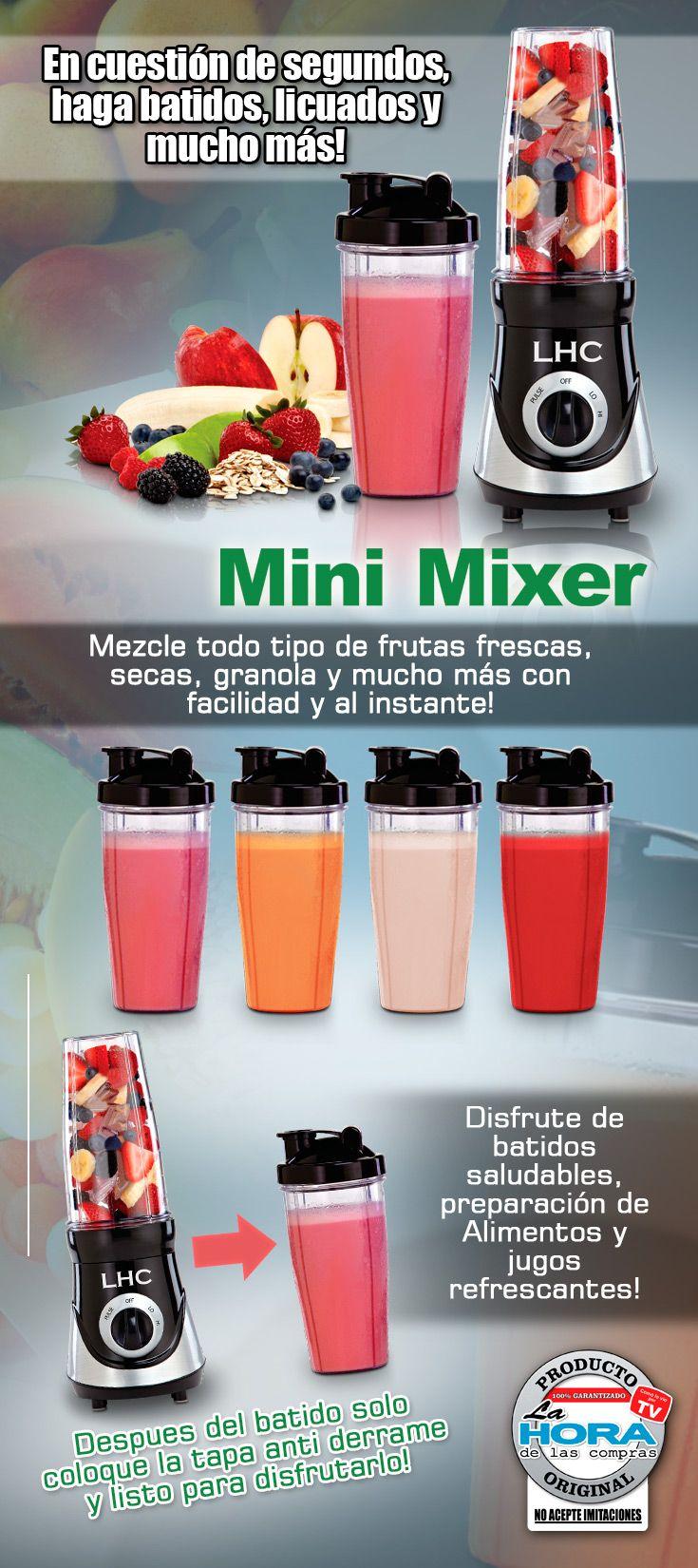 Prepara los mejores batidos para vos y para toda tu familia.. Mini mixer te ayudará a preparar jugos en solo segundos. #jugos #frutas #salud #bienestar #lahoradelascompras #productosoriginales