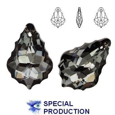 6090 Baroque 22mm Silver Night  Dimensions: 22,0 mm Colour: Crystal Silver Night 1 package = 1 piece