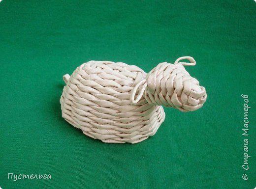 Мастер-класс Поделка изделие Плетение Овечка Бумага Трубочки бумажные фото 1