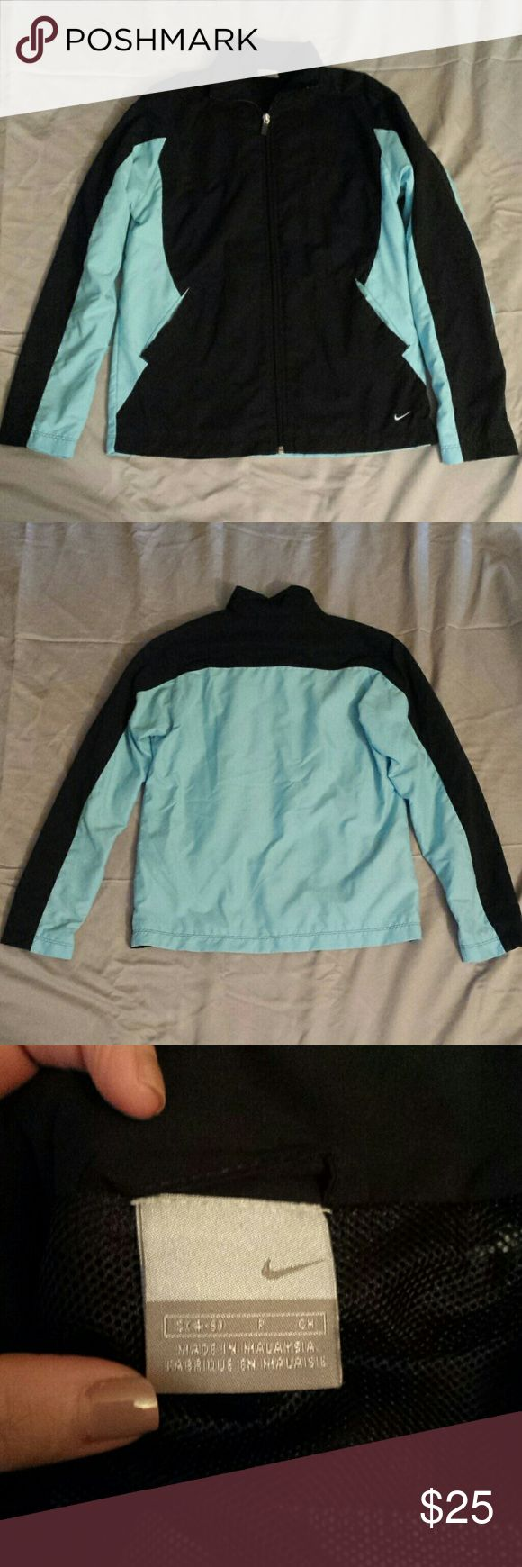 Nike Rain Jacket Nike rain jacket. It matches the nike pants i have listed. In great condition. Great for outdoor activities. Nike Jackets & Coats