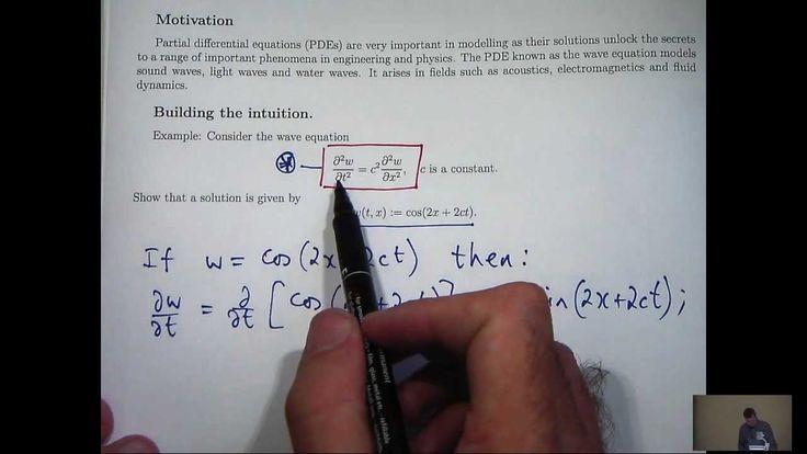 Partial derivatives + PDEs tutorial