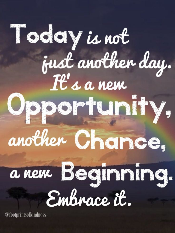 Don't be sad that it's Monday... Embrace this day with open arms and think about all you want to accomplish today and this week #monday #opportunity #chance #beginning #today