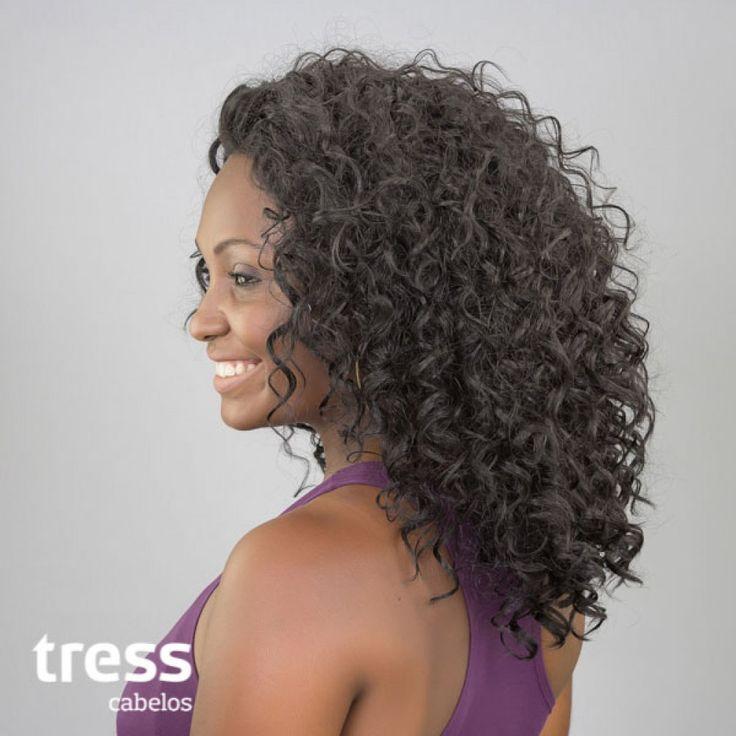 Peruca Lace Front Wig Cacheada - CRIS - PRONTA ENTREGA - Comprar Sintética