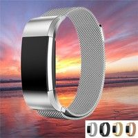 Wish | Durable and Elegant Milanese Loop Stainless Steel Metal Watch Band Strap Bracelet For Charge 2